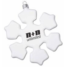 Hot Sale Snowflake Christmas Ornaments Advertising Glass Christmas Ornaments