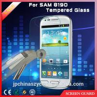 Glass-M Steel screen protector guard for samsung galaxy s8190 s3 mini