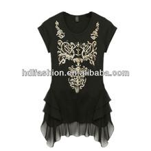 Wholesale ladies top new custom t shirt design