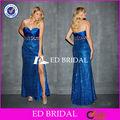 nc14 cristal frisado querida fenda lateral plus tamanho real azul vestidos de baile