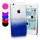 Ultra Thin 3D Rain drop Design Hard Case Cover For APPLE iPhone 5C Freen Screen Protector