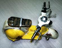 Banda stagnata modello per la raccolta& motociclo modello fatto a mano