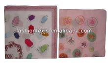 High Quality Japanese Cotton cartoon character print handkerchief