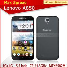 New 2013 1.3ghz 1gb ram 4gb rom mtk6589 quad core dual sim android phone lenovo a850