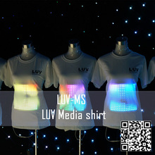EL led glowing t-shirt for brand promot