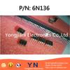 Original & New 6N136-500E 6N136-000E Transistor Optocoupler ICs DIP-8