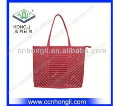 LAEST FASHION color stripe metallic shopping bag