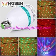 Most competitive price !led magic ball light rotating e27 bulb rgb amusement led light disco ball HS-EHMB3