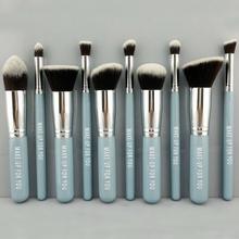2014 new fashion woman makeup cosmetic brush set, flat kabuki brush,tapered brush
