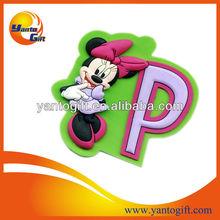 Cute cartoon soft pvc fridge magnet for promotion