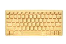 Impecca Bamboo Bluetooth Keyboard, Orange Citrus