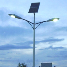 2014 NEW hot sale double arms solar street light experienced provider