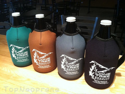 Custom Neoprene growler coozie carrier insulator sleeve with strap