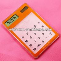 8 digits transparent touch screen calculator