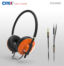 hot selling over head round cable custom logo headphone with volume control for ipad mini