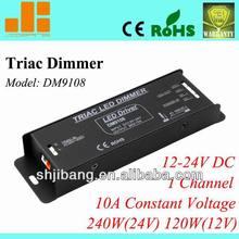 Triac dimmable driver, Traic dimming driver, pwm led driver,1channel/12V/24V/10A/240W pn:DM9108