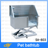 Functional stainless steel fixed foot pet grooming bathtub for dogs and cats, with door SA-803