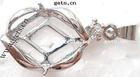 brass blank bezel pendant settings