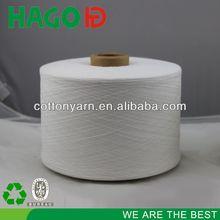 Ne18s regenerated yarn dyed knitted ruffle fabric
