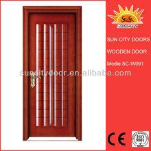 Bedroom wooden door design picture with lacquer sliding door