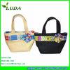 LUDA Spain customs Style Handled Paper Straw Beach Tote Bag