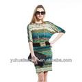 Snidel rayé robe d'automne, plus la taille des femmes tunique