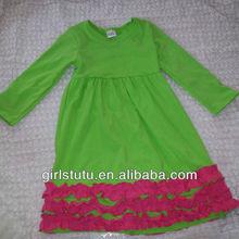 Hot sale girl dress little girls ball gown long sleeve summer fall dresses cute small child ruffle bottom knee length dresses