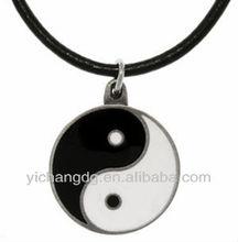 Iiyama Yin and Yang Gossip Stainless Steel Pendant Necklace