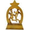 Golden Soccer Sports Figure Polyresin Sculpture