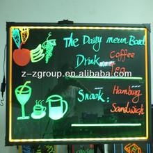 Hight brightness RGB illuminated fluorescent marker board for Restaurant