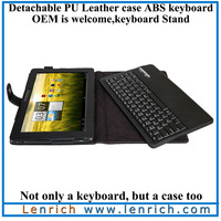 LBK903 PU leather wireless detachable Bluetooth keyboard Portfolio case keyboard cover acer laptop