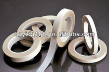 Factory offer White Fluorous Rubber Coated Fiberglass Fabric Tape with RoHS glass colth industrial tape