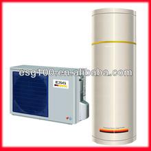 split type air source/air to water gas cycle heat pump water heater