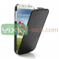 Super Slim Top Flip Leather Case for Samsung S4 Leather Case