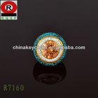 China Brass Factory AAA Cubic Zirconia Hallmark Ring