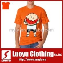 Latest fashion wholesale cheap plain orange t shirts