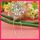 Elegant drop tear shape flower diamante embellishment with chain WBR-1340