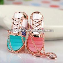 various color mini tennis shoe keychain