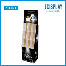 new products 2014 watch cardboard floor display stand for retail