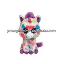 Wishful the Multi Colored Unicorn Animal Beanie Boos Stuffed Plush Toy