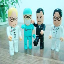 Plastic medical doctor shape usb flash drives bulk cheap