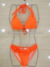 Young girls bikini swimwear fashion bikini orange color
