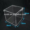 hochwertigem acryl klare kubus benutzerdefinierte feld mit deckel großhandel