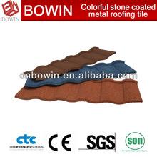 Low cost colorful best asphalt metal roof shingles