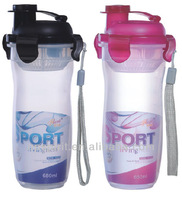 Wholesale 450ML Eco-friendly BPA FREE PP Plastic Two Colors Hot or Cold Water Sports Bottle for Child with Double Drinking Mouth