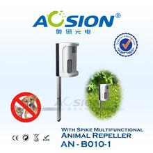 Cat Bird Scarer Adjustable PIR Ultrasonic Solar Powered Dog/ Animal / Rodent Repeller