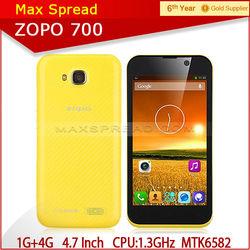 Large Size ZOPO ZP700 MTK6582 QUAD CORE DUAL SIM Hot Sales zopo phone