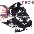 el mejor de la moda de tejer patrón de los animales de la señora bufandas