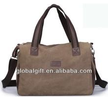 Canvas design travel sports duffle bag