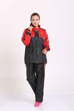 Women 190t nylon fabric rain suits 2014 new